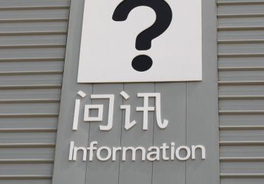 Information verständlich übersetzen - grafisch - chinesisch - international