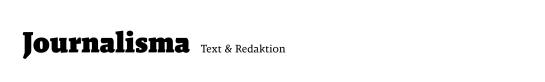 journalisma.de -Text und Redaktion